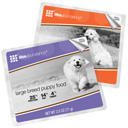 large breed puppy food sample